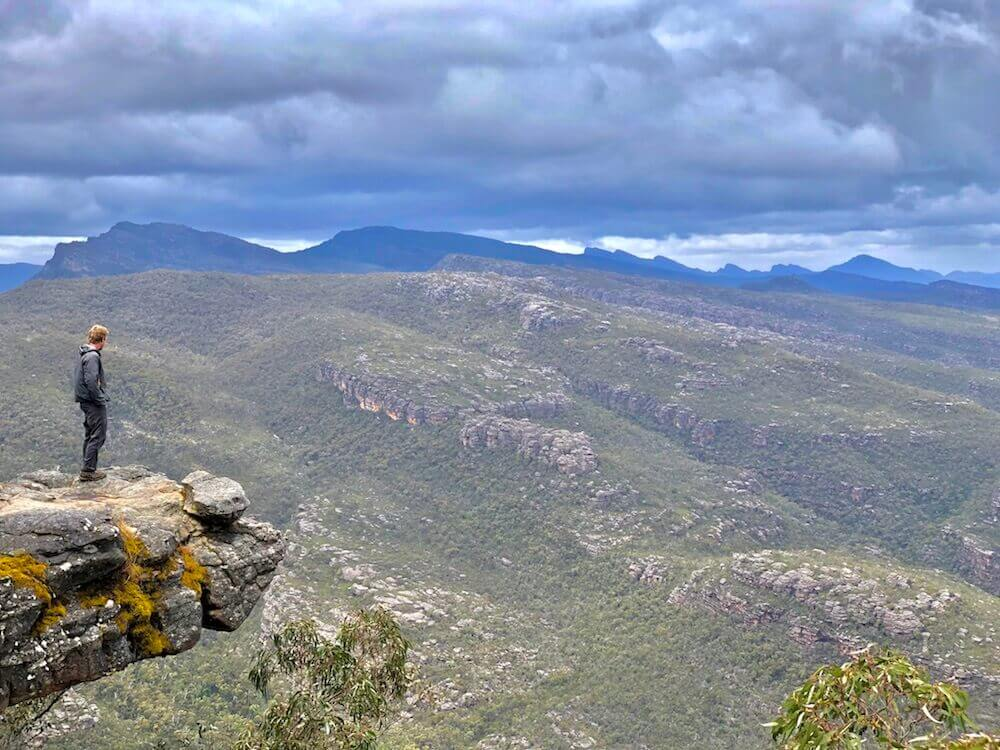 Grampians National Park, Victoria: The Balconies... Living on the edge, why not?