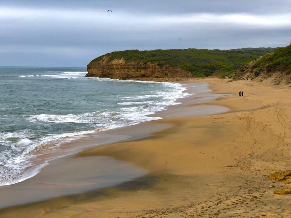 Great Ocean Road, Victoria: This is called Bells Beach, it is known worldwide for its surf competitions.