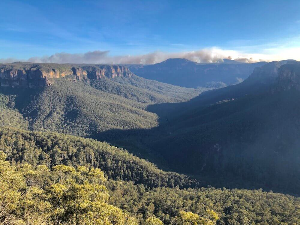 Blue Mountains National Park, New South Wales: A view over another valley