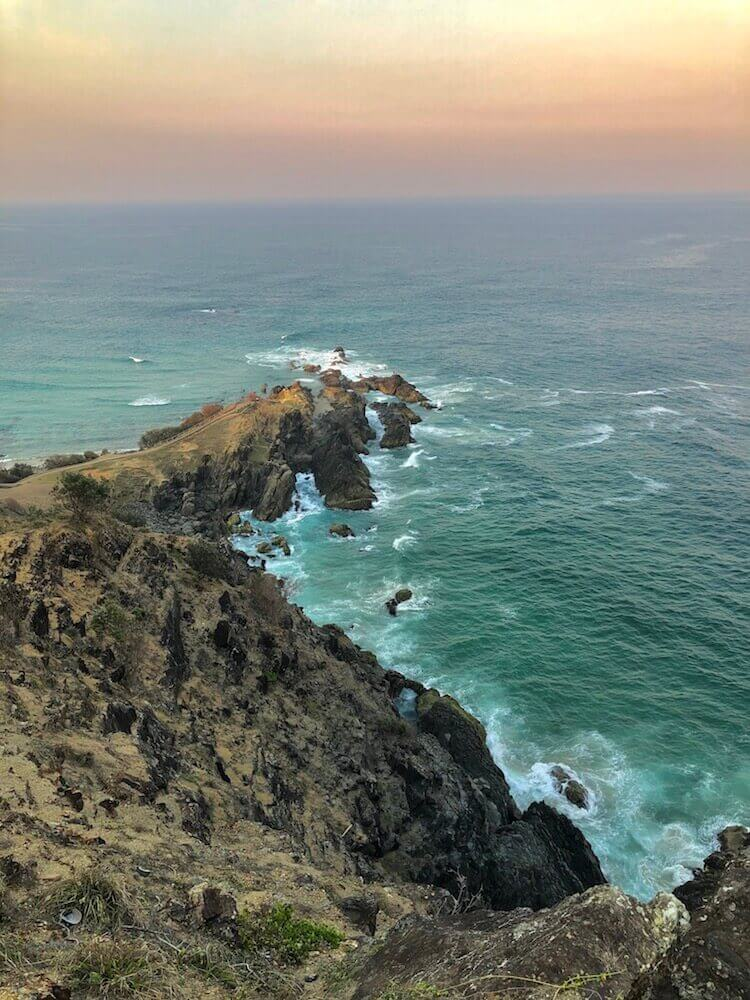 Cape Byron, New South Wales: The tip of that rock is the easterly point of Australia.