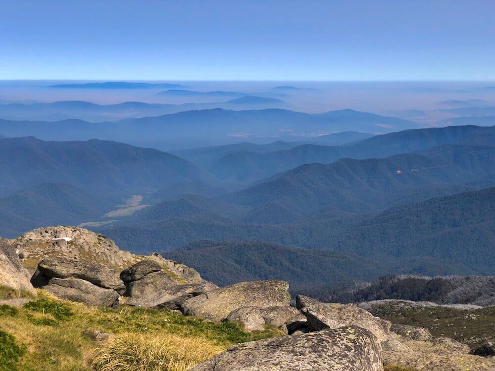 Kosciuszko National Park, New South Wales: The view from Australia's highest peak (2228m), Mount Kosciuszko. (Why such a complicated name?)
