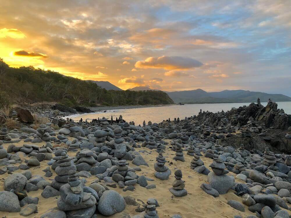 Wangetti, Queensland: How many Inukshuk can you count?