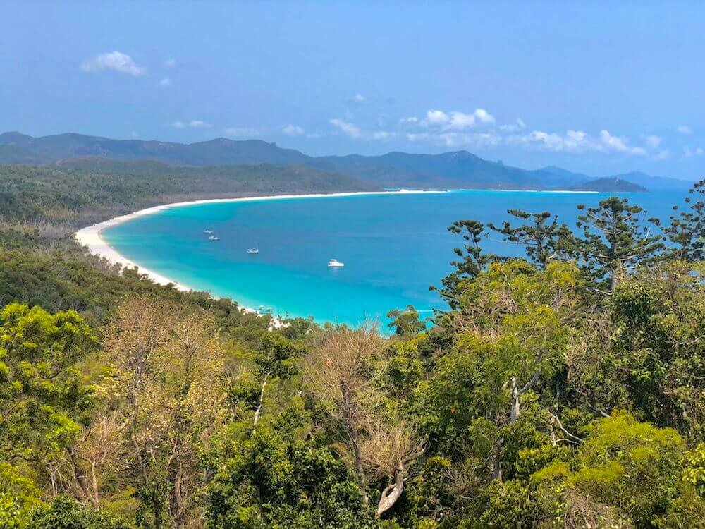Whitsunday Island, Queensland: Whitehaven Beach is voted one of the Top 5 beaches worldwide and the #1 in Australia. It stretches 7km long.