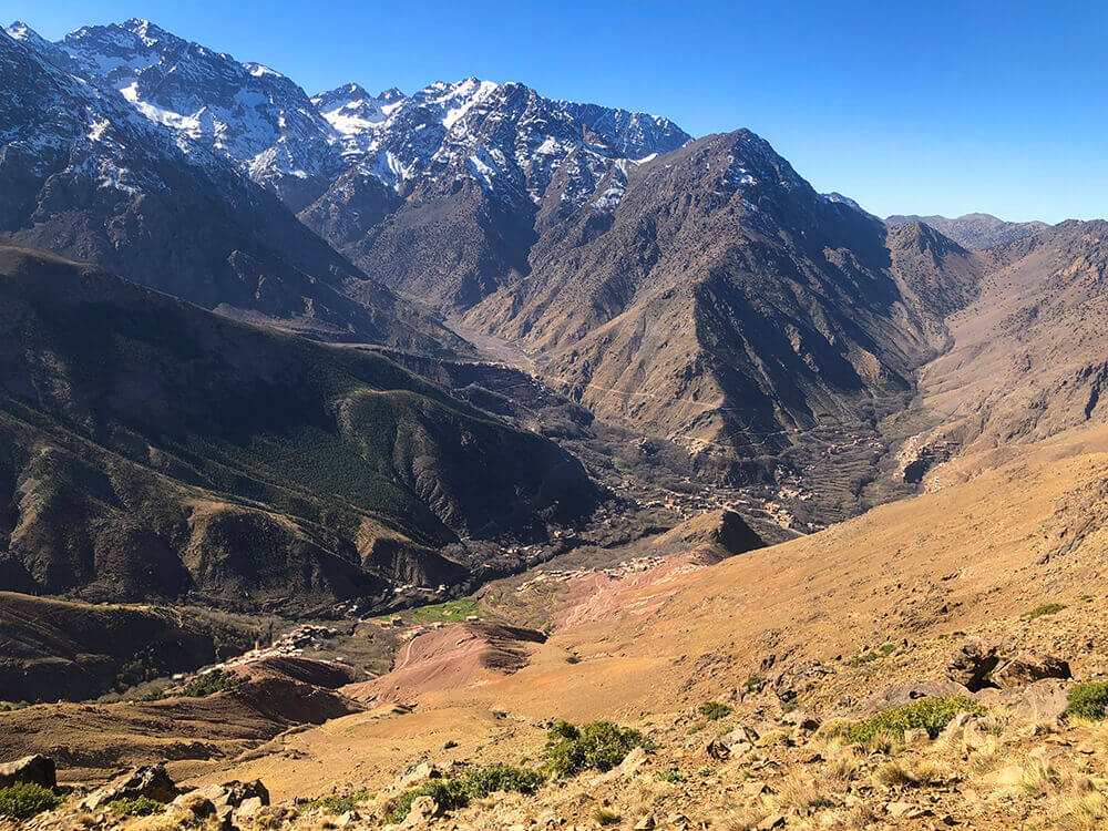 Imlil village in the Atlas mountains