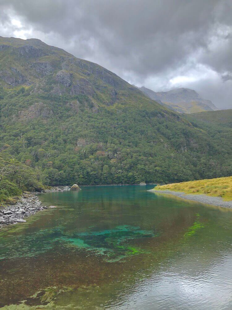 Blue Lake and its world's clearest water, sadly the sun didn't shine to show the lake's true colours.